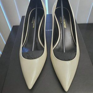 Brand New - Saint Laurent Charlotte pumps white